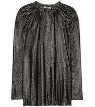 NINA RICCI | Coated pleated blouse | Clouty