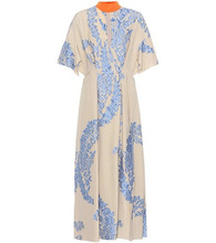 FENDI   Silk-blend embellished dress   Clouty