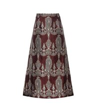 Alessandra Rich | Printed silk-blend skirt | Clouty