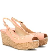 Jimmy Choo | Praise embellished leather wedges | Clouty