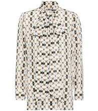 GUCCI | Printed silk pussy-bow blouse | Clouty