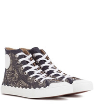 Chloé | Embellished high-top sneakers | Clouty