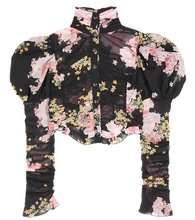Alessandra Rich | Floral-printed silk top | Clouty
