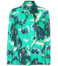 GUCCI | Printed silk blouse | Clouty