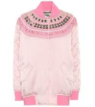 FENDI   Exclusive to mytheresa.com – embellished satin bomber jacket   Clouty