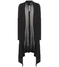 RICK OWENS | Draped virgin wool cardigan | Clouty
