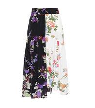 Isabel Marant   Inaya floral-printed silk skirt   Clouty