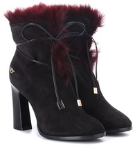 Roger Vivier | Chunky Trompette suede ankle boots | Clouty
