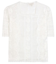 Marc Jacobs | Embroidered cotton blouse | Clouty