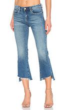 Blank NYC   Прямые джинсы с неровнообрезанным низом - BLANKNYC   Clouty