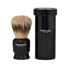 Truefitt & Hill   Tube Traveler Shave Brush Faux Ebony Super Badger (Цвет Faux Ebony variant_hex_name 0F0D0E)   Clouty