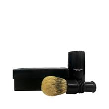 Truefitt & Hill   Turnback Travel Shave Brush Faux Ebony Super Badger (Цвет Faux Ebony variant_hex_name 181317)   Clouty