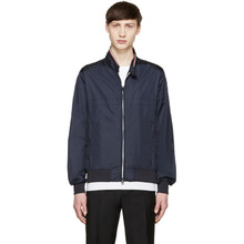 MONCLER | Moncler Navy Nylon Bomber Jacket | Clouty