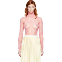 GUCCI | Gucci Pink Long Sleeve Lace Blouse | Clouty