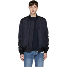 MONCLER | Moncler Navy Down Allix Bomber Jacket | Clouty