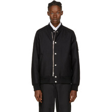 MONCLER | Moncler Black Down Ica Bomber Jacket | Clouty