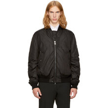 MONCLER | Moncler Black Down Allix Bomber Jacket | Clouty
