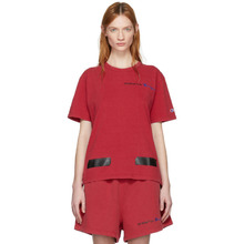 Off-White | Off-White Red Champion Reverse Weave Edition T-Shirt | Clouty