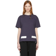 Off-White | Off-White Navy Champion Reverse Weave Edition T-Shirt | Clouty
