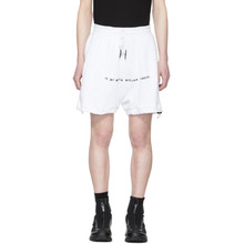 11 By Boris Bidjan Saberi | 11 by Boris Bidjan Saberi White Logo Lounge Shorts | Clouty