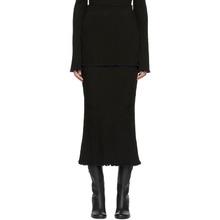 Ellery   Ellery Black Baby Rib Length Skirt   Clouty