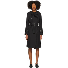 Bottega Veneta | Bottega Veneta Black Intrecciato Cuff Trench Coat | Clouty