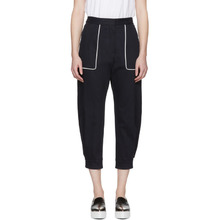 MIU MIU | Miu Miu Navy Denim Pocket Trousers | Clouty