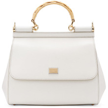 Dolce & Gabbana | Dolce and Gabbana White Iguana Medium Miss Sicily Bag | Clouty