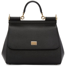 Dolce & Gabbana | Dolce and Gabbana Black Medium Miss Sicily Bag | Clouty
