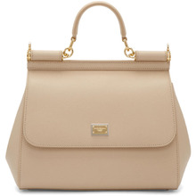 Dolce & Gabbana | Dolce and Gabbana Beige Medium Miss Sicily Bag | Clouty