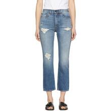 RAG & BONE | Rag and Bone Blue Ankle Straight Jeans | Clouty