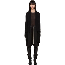 RICK OWENS | Rick Owens Black Basic Medium Wrap Cardigan | Clouty