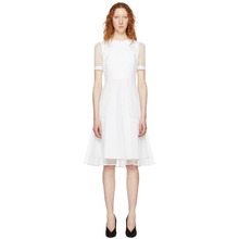 GIVENCHY   Givenchy White Layered Tulle Dress   Clouty