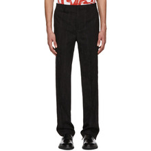 GIVENCHY | Givenchy Black Jacquard Embroidered Star Trousers | Clouty