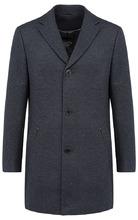 Al Franco | Шерстяное пальто с отделкой экокожей | Clouty