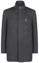 Al Franco | Пальто на синтепоне с отделкой экокожей | Clouty